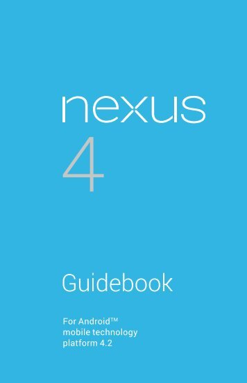 Nexus 4 Guidebook pdf Google