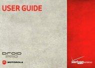 Verizon Droid Pro User Guide - Motorola Support