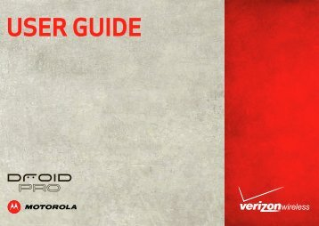 Verizon Droid Pro User Guide - Motorola Support