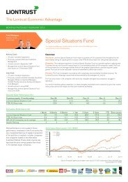 Liontrust Special Situations Fund Monthly Factsheet