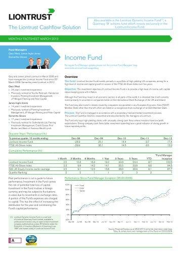 Income Fund - Liontrust Asset Management PLC