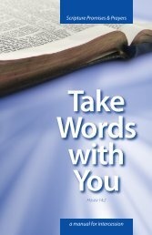 Scripture Promises & Prayers a manual for intercession - Challies