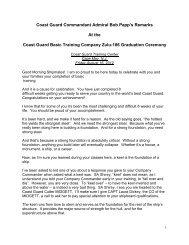 Coast Guard Commandant Admiral Bob Papp's ... - U.S. Coast Guard