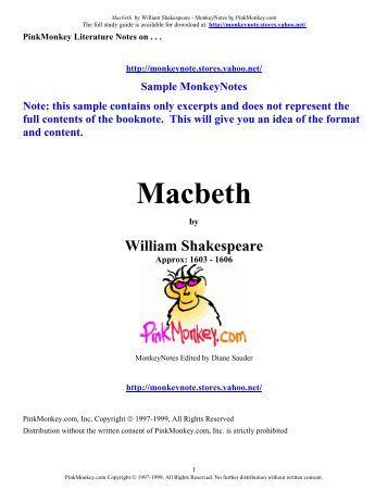 . Macbeth Spark Notes