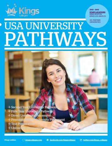 2012 – 13 USA University Pathways brochure - Kings Colleges