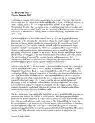 Ida Henrietta Hyde Pioneer Woman 2002 - Women's Resource ...