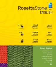 Level 1 Course Contents - Rosetta Stone