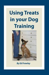 Using Treats in your Dog Training - Leerburg Enterprise, Inc