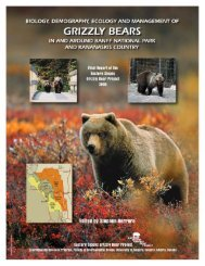 eastern slopes grizzly bear project final report - Canadian Rockies