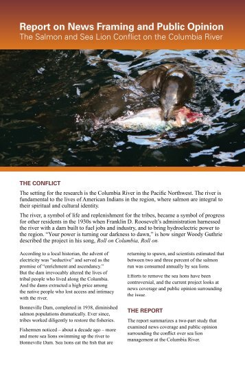 Sea Lion-Salmon Report - Portland State University