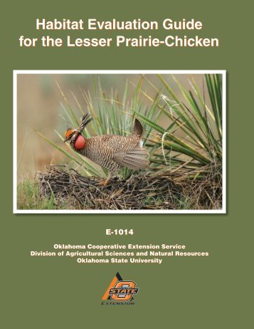 Habitat Evaluation Guide for the Lesser Prairie-Chicken - OSU Fact ...