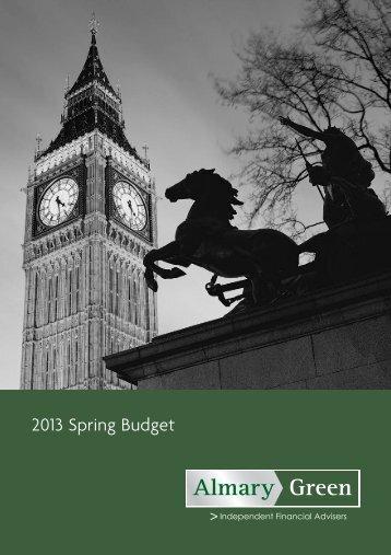 2013 Spring Budget