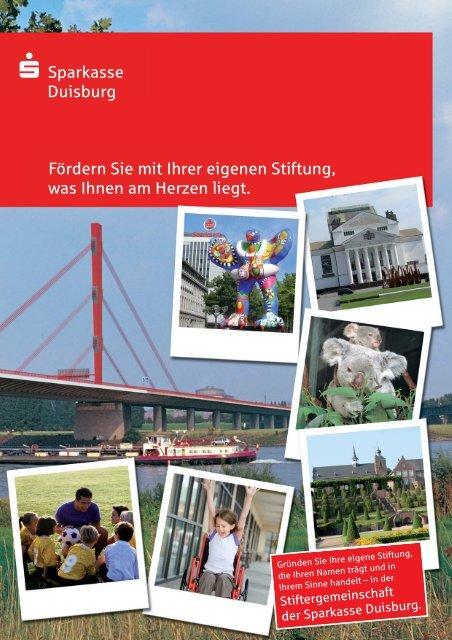 Was ist eine Stiftung? - Sparkasse Duisburg