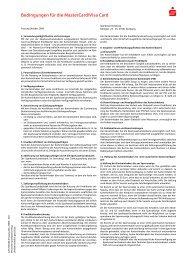 Bedingungen für die MasterCard/Visa Card - Sparkasse Duisburg