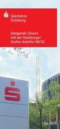 Steigende Zinsen mit der Duisburger Stufen-Anleihe 06/10 ...