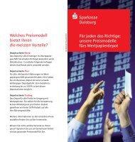 Preise und Leistungen im Wertpapierdepot - Sparkasse Duisburg