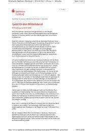 Geld für den Mittelstand - Sparkasse  Duisburg