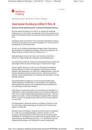 Seite 1 von 2 Druckseite Sparkasse  Duisburg >> Wir für Sie ...