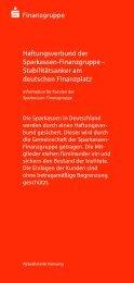 Finanzgruppe Haftungsverbund der Sparkassen ... - Sparkasse Hamm
