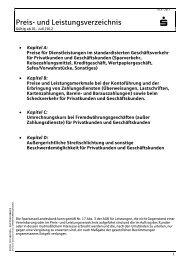 Preis- und Leistungsverzeichnis Kap 4 - Sparkasse Herford