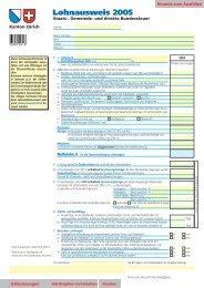 lohnausweis formular