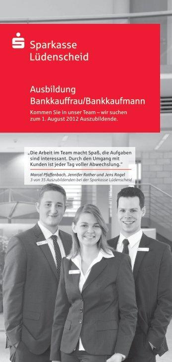 Ausbildung Bankkauffrau/Bankkaufmann - Sparkasse Lüdenscheid