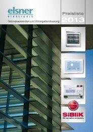 Elsner Preisliste 2013 - Siblik Elektrik Ges.m.b.H. & Co. KG