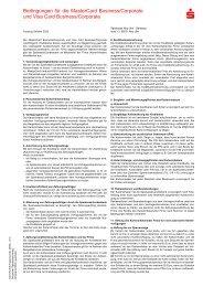 Bedingungen für die MasterCard Business/Corporate und Visa Card ...