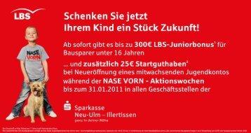 Schenken Siejetzt - Sparkasse Neu-Ulm - Illertissen