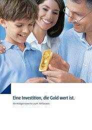 Eine Investition, die Gold wert ist. - Sparkasse Bayreuth