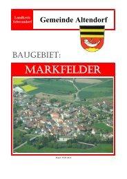 MARKFELDER - Sparkasse im Landkreis Schwandorf