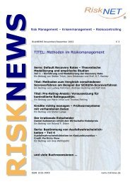 TITEL: Methoden im Risikomanagement - Extra Materials - Springer