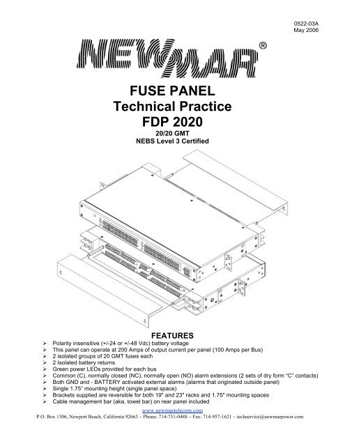 fuse panel technical practice fdp 2020 - newmar newmar fuse box  yumpu