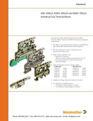 Weidmuller Indicating Fuse Terminal Blocks