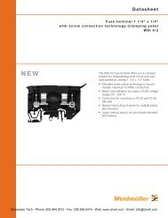 Weidmuller WSI 4/2 Series Fuse Terminal Blocks - Clearwater ...