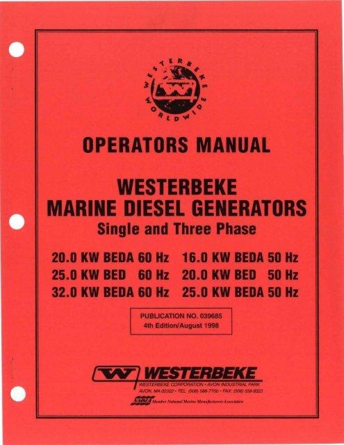 OPERATORS MANUAL - Westerbeke on