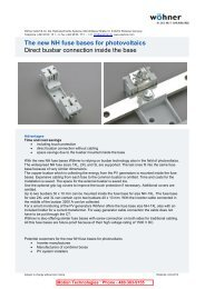 Wohner NH Fuse Base for Photovoltaic - Motion Technologies