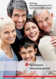 Geschäftsbericht 2011 - Sparkasse Weserbergland