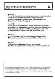 101 580 Preis- und Leistungsverzeichnis - Sparkasse Weserbergland
