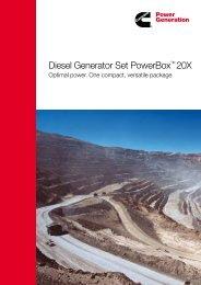 Diesel Generator Set PowerBox™ 20X - Cummins Inc.