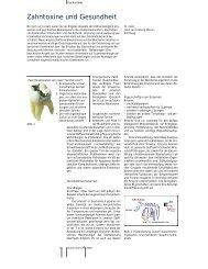 Zahntoxine und Gesundheit - Dr. med. univ. Alois Dengg