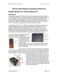 German Field Telephone Equipment Reference ... - Nonstop Systems