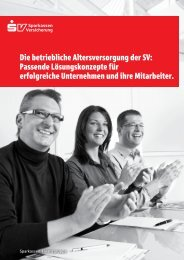 Die betriebliche Altersversorgung der SV - Sparkasse Wetzlar