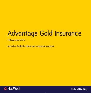 Insurance policy summaries - NatWest