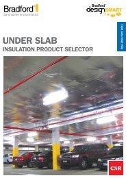 Under SlAB - CSR Bradford Insulation