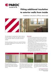 Fitting additional insulation to exterior walls from inside - Paroc.com