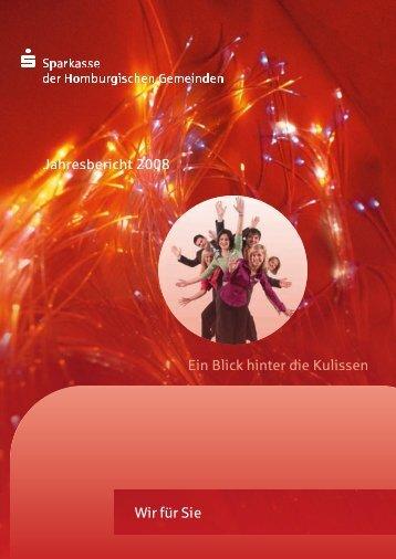 Ein Blick hinter die Kulissen Jahresbericht 2008 ... - Sparkasse Wiehl