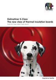 Dalmatiner S-Class The new class of thermal insulation ... - Caparol
