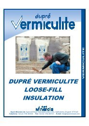Guide to using Micafil Vermiculite for Loft Insulation - Dupre Minerals