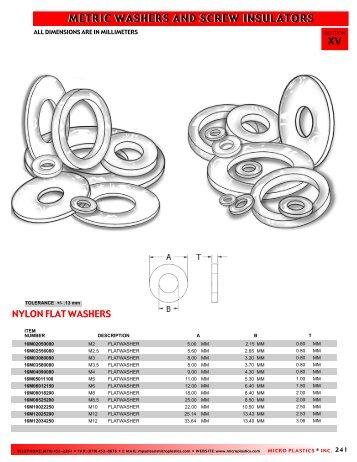 Metric Washers & Screw Insulators - RGA and PSM Fasteners